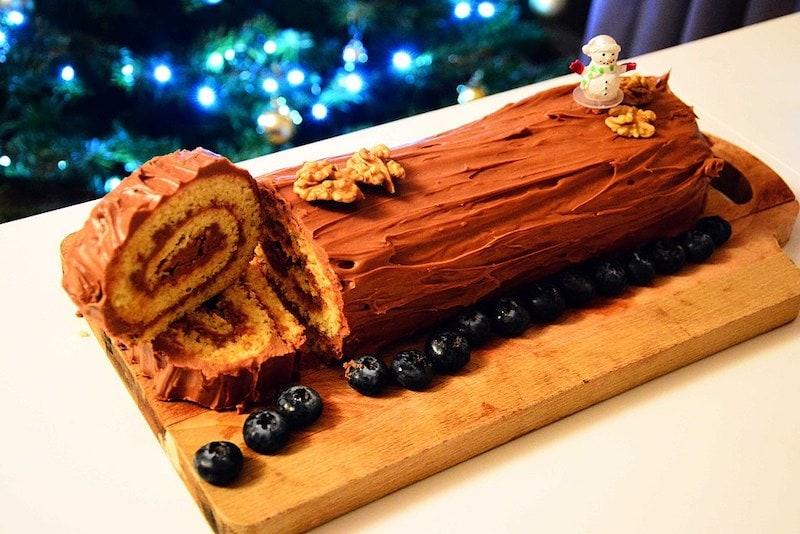 Wine Pairing with Christmas Log Cake